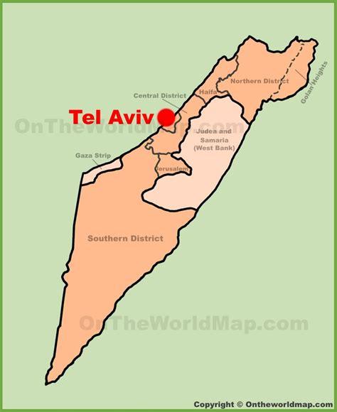 tel aviv map tel aviv israel map my