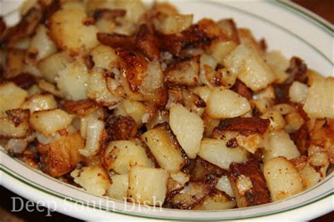 Country Style Hash Browns - deep south dish southern fried potatoes