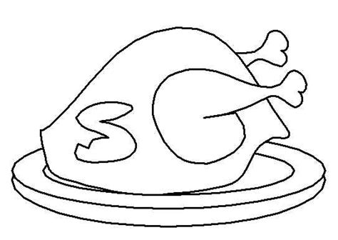 cooked turkey coloring page free thanksgiving coloring pages