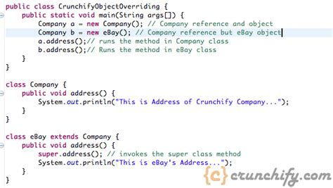 tutorial java method java method overriding exles and concepts overriding