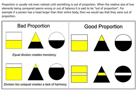 unity relative layout good bad proportion proportion principles of design