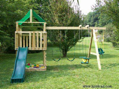 backyard swing set plans download build your own outdoor playset plans free