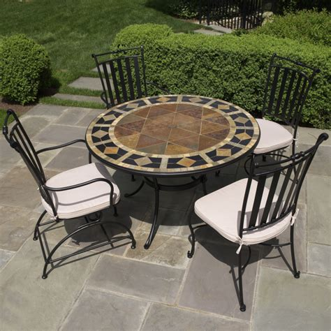 Tile Patio Tables Furniture Dining Sets Tile Top Patio Table Mosaic Patio Table And Chairs Set Interior Designs