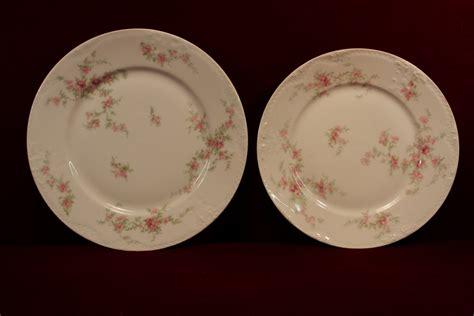 pink rose pattern china haviland china plates pink roses embossed p