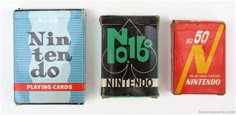 Nintendo Gift Card - beforemario nintendo playing cards early 1960s