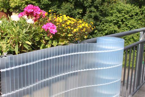 sichtschutz garten transparent sichtschutzmatten pvc balkon sichtschutz kunststoff
