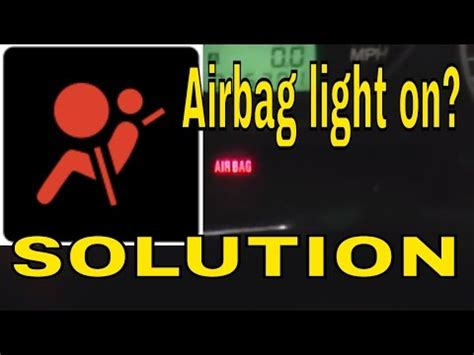 2008 subaru legacy airbag light how to reset clear the airbag air bag module light