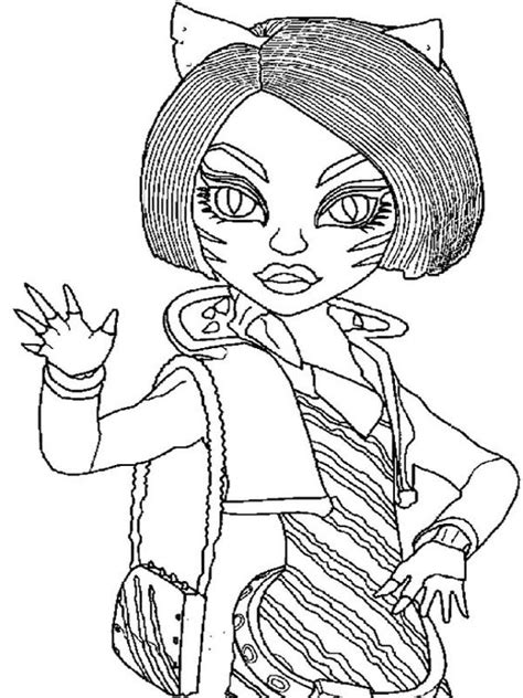 monster high coloring pages toralei stripe monster high coloring and stripes on pinterest
