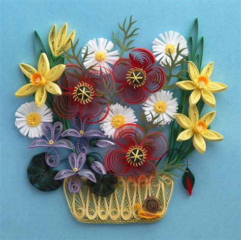 Craft Paper Design - file quilled flowers sle quilling picture jpg
