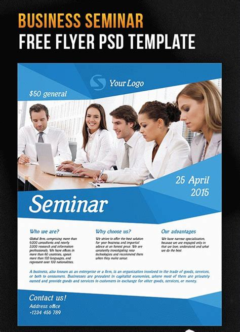 20 Seminar Flyers Templates Psd Ai Illustrator Download Flyer Template Free 2