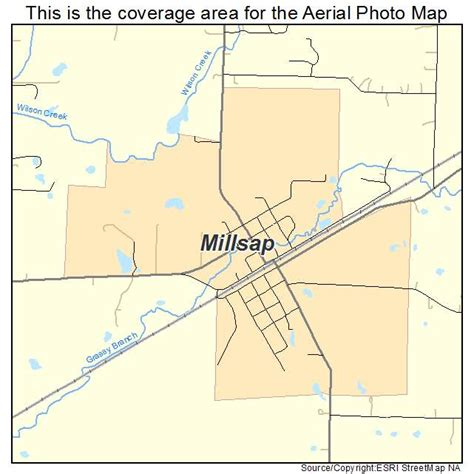 millsap texas map aerial photography map of millsap tx texas