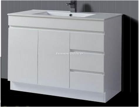 Slimline Bathroom Vanities Slimline 900w X 390mm Bathroom Vanity Basin Ceramic Top 2 Pac Fingerpull Ebay