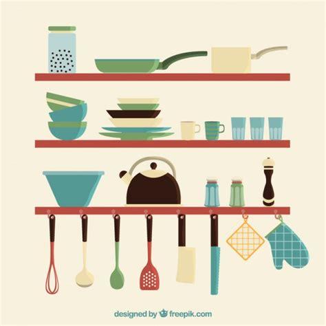 Kitchen Accessories Vector Free Kitchen Utensils Set Vector Free