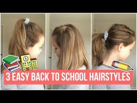 back to school heatless hairstyles 3 easy quick heatless and simple hairstyles for back to