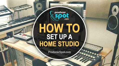 how to set up a studio at home producerspot