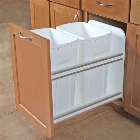 double garbage can cabinet knape vogt 18 in h x 15 in w x 22 in d plastic in