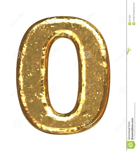 golden font number zero royalty free stock image image