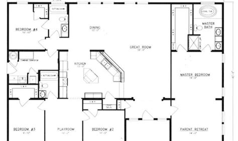 pole barn houses floor plans top 23 photos ideas for 4 bedroom floor plans one story