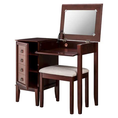 espresso bedroom vanity set vanity set linon side storage vanity set dark brown