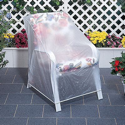 Outdoor Clear Vinyl Patio Chair Furniture Protector Cover Outdoor Patio Chair Covers