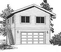 Two Story Garage Plans With Apartments by Ezgarage 2 Car Plans
