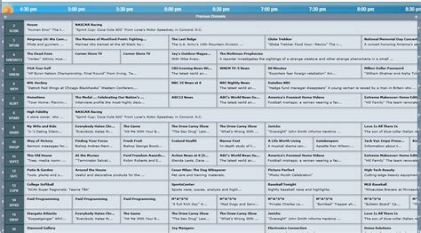 s day tv schedule direct tv guide channels list