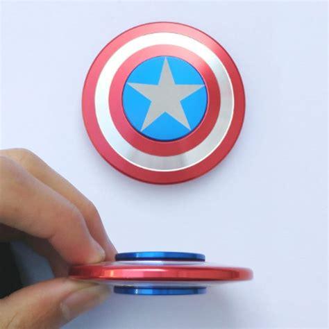 Spiner Captain America by America S Shield Metal Fidget Spinner Captain