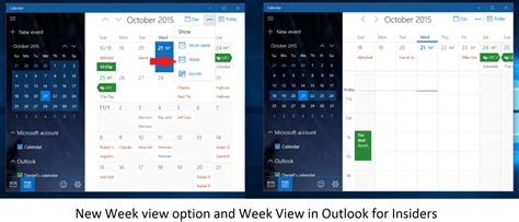 outlook mail and calendar app for windows 10 pc and mobile