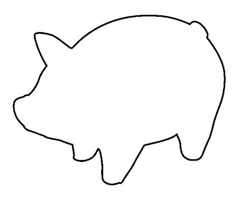 pig template pig template for preschoolers clipart best