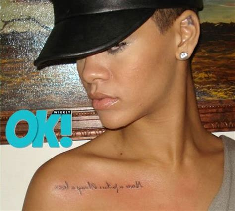 rihannas tattoos leaving a on the seven musicians