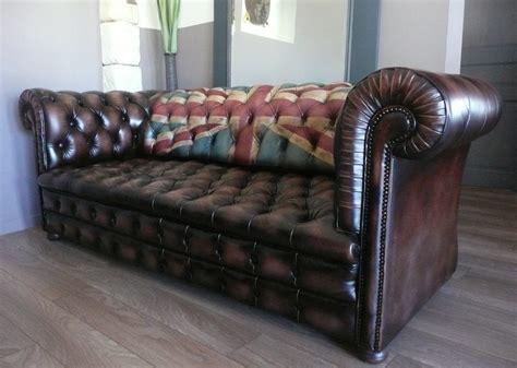 Vintage Chesterfield Sofa Union Jack A1 La Boutique Vintage