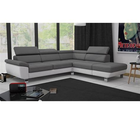 canapes chez but angle cv r 233 versible william ii pu gris blanc canap 233 s but
