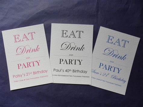 eat drink and party invitationsthday invitations 18th