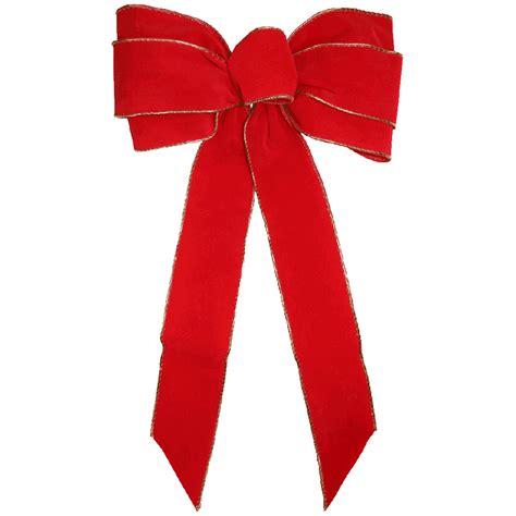 wired red velvet bows