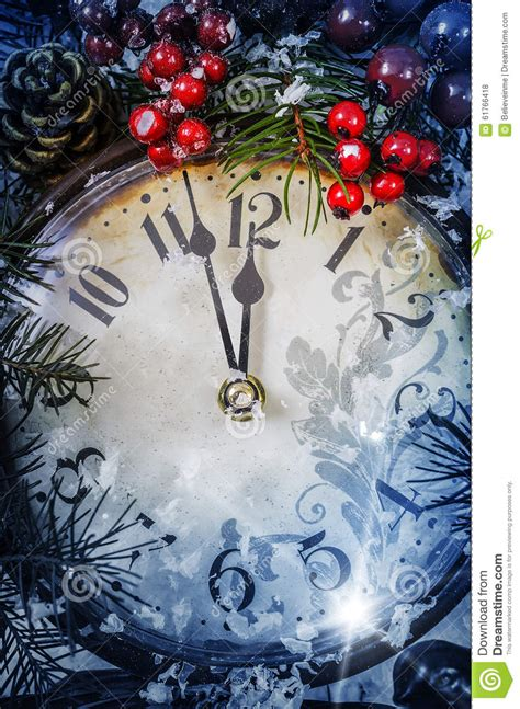 christmas eve   years  midnight stock photo image