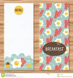brochure template for breakfast menu stock vector image