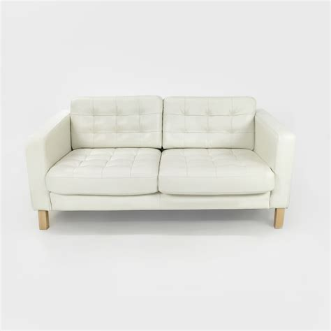 white leather loveseat 50 off ikea white leather couch sofas