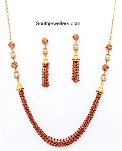 ruby necklace jewelry designs jewellery designs