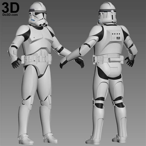 clone trooper wall display armor 3d printable model clone trooper phase 2 star wars full