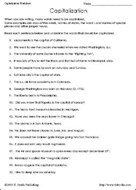 capitalization worksheets high school pdf worksheet free capitalization worksheets mifirental free printables worksheets for students