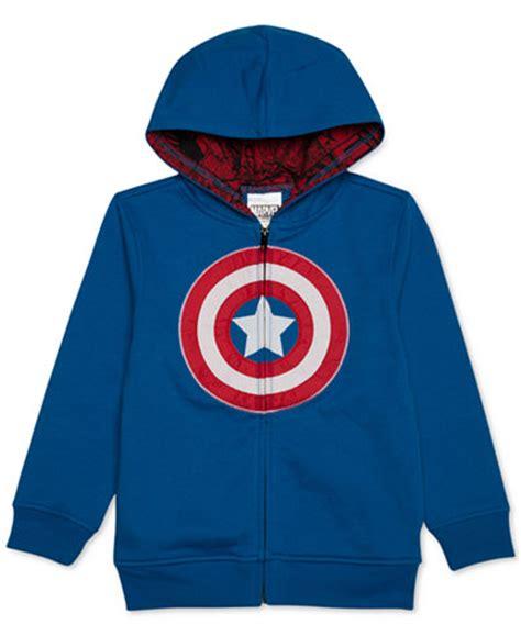 Romper Hoodie Captain America 1 marvel boys captain america zip up hoodie