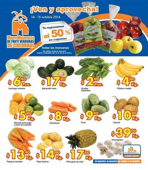 martes y miercoles de frutas y verduras chedraui 28 y 29 de enero chedraui martes y mi 233 rcoles de frutas y verduras 14 y 15