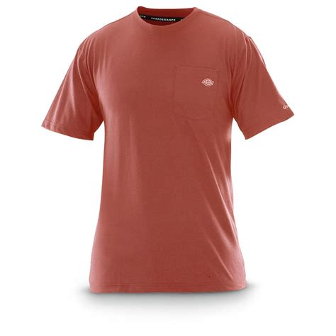 Kaos T Shirt Dickies dickies sleeved drirelease performance t shirt 621636 t shirts at sportsman s guide