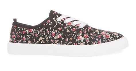 primark floral print platform canvas lace up shoes
