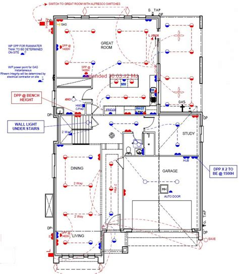 electrical floor plans new lindfield house electrical plan