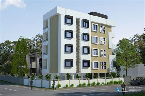 3d apartment building elevation done by ary studios