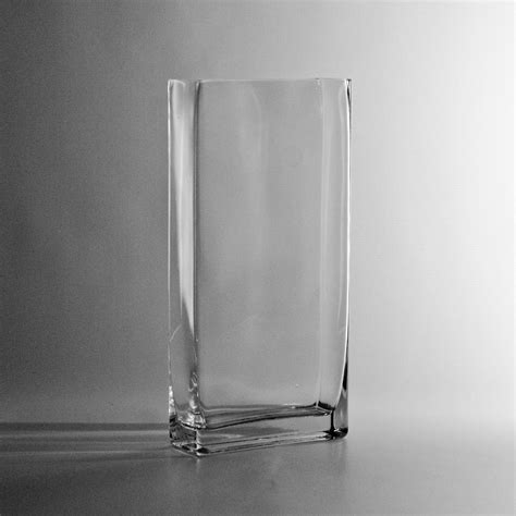 Rectangular Vases Cheap by 12 Quot Thin Rectangle Vase Discount Wholesale Vases