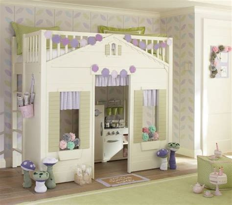 pottery barn cottage loft bed cottage loft bed pottery barn kids kid spaces pinterest
