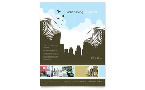 Urban Real Estate Flyer Template Word Publisher Microsoft Real Estate Templates