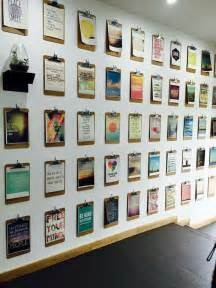 Office Wall Decor Ideas Best 25 Clipboard Wall Ideas On Cheap Office Decor Cheap Office Ideas And